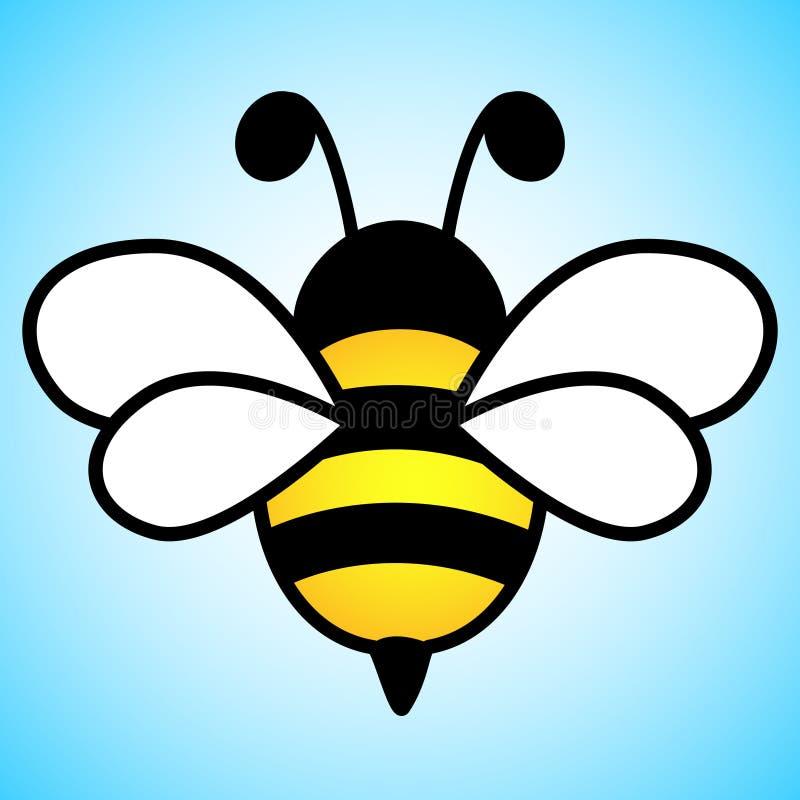 Groot eenvoudig ontwerp van een gele en zwarte bij royalty-vrije illustratie
