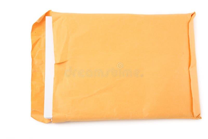 Groot envelop en document stock foto