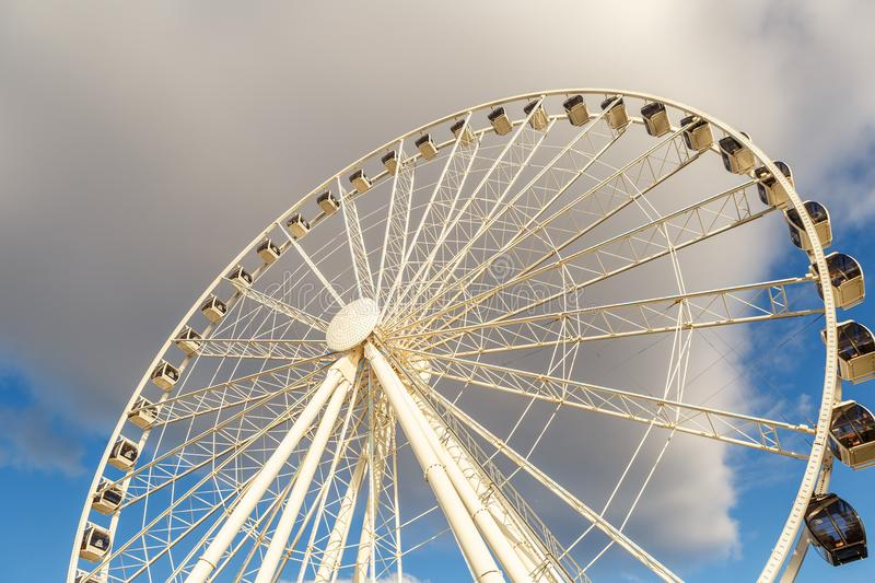 Groot Ferris Wheel in Seattle, Washington, de V.S. royalty-vrije stock afbeelding