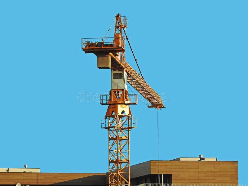 Groot Geel Crane Tower royalty-vrije stock afbeelding