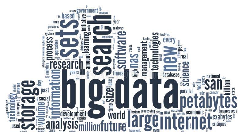 Groot gegevensconcept in woordwolk vector illustratie