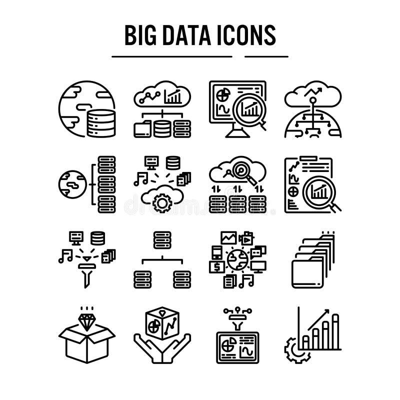 Groot gegevenspictogram in overzichtsontwerp voor infographic Webontwerp, presentatie, mobiele toepassing - Vectorillustratie vector illustratie