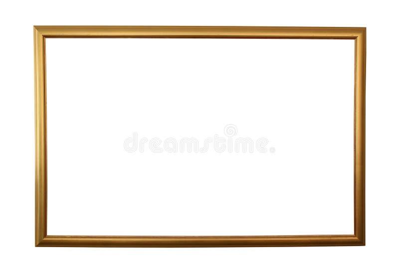 Groot gouden frame dat met weg wordt geïsoleerd vector illustratie