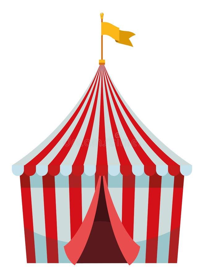 Groot hoogste circus met vlag royalty-vrije illustratie