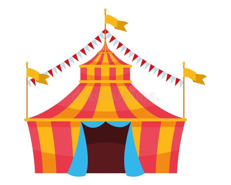 Groot hoogste circus met vlag vector illustratie