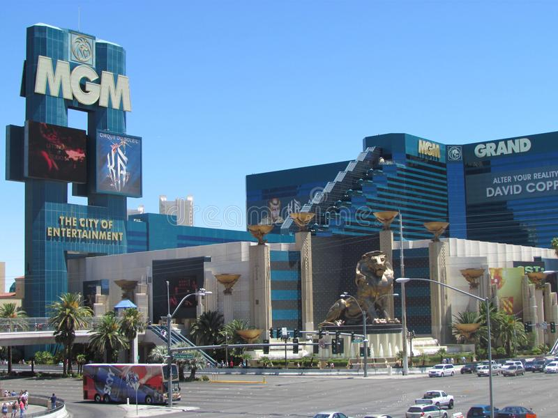 Groot Hotel MGM in Las Vegas royalty-vrije stock foto