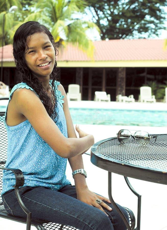 Groot inheems de vakantiehotel Managua Nicaragua van het Graaneiland stock foto