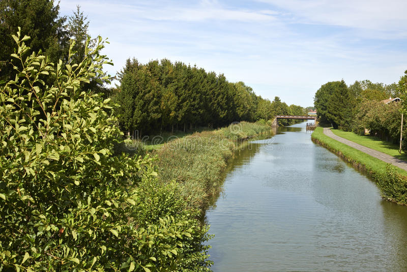 Groot kanaal d'Alsace stock afbeelding