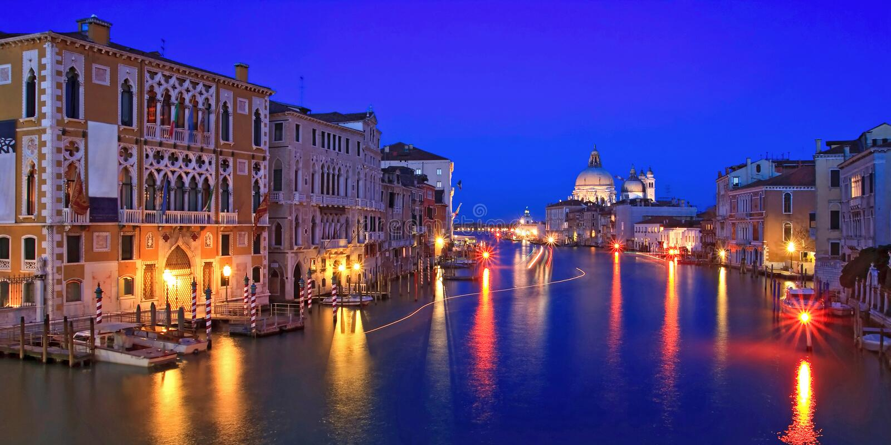 Groot kanaal Venetië stock foto's