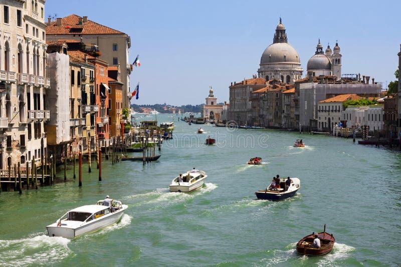 Groot Kanaal in Venetië. stock afbeeldingen