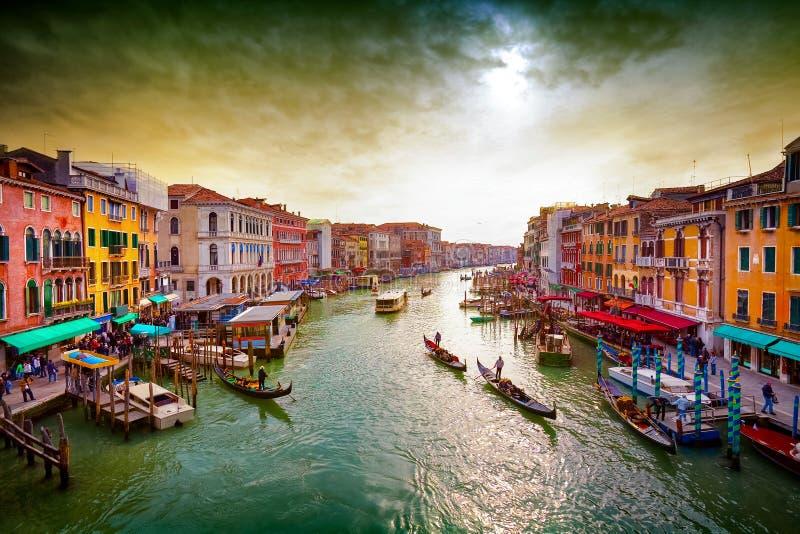 Groot kanaal, Venetië, Italië stock fotografie