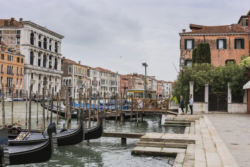 Groot Kanaal in Venetië Italië royalty-vrije stock foto