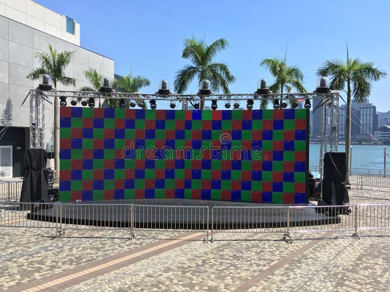 Groot LED-beeldscherm in Harbour City, Hongkong royalty-vrije stock fotografie