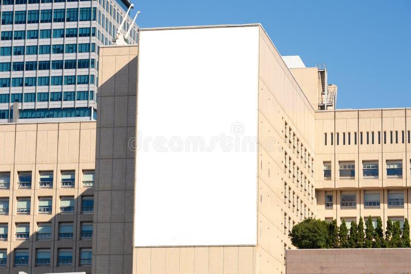 Groot leeg aanplakbord op een straatmuur royalty-vrije stock foto's