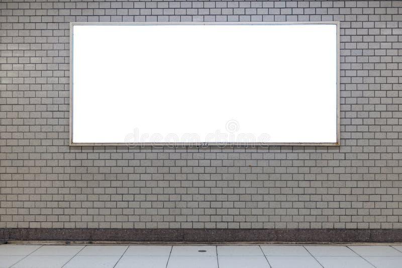 Groot leeg aanplakbord op een straatmuur, banners met ruimte om toe te voegen royalty-vrije stock afbeeldingen