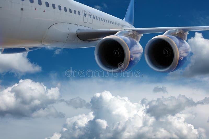 Groot lijnvliegtuig. stock afbeelding