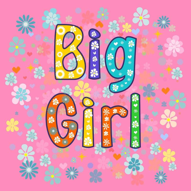 Groot meisje De kaart van de groet vector illustratie