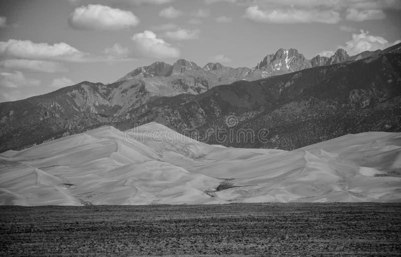 Groot Nationaal het Park Zwart-wit Landschap van Zandduinen royalty-vrije stock afbeelding