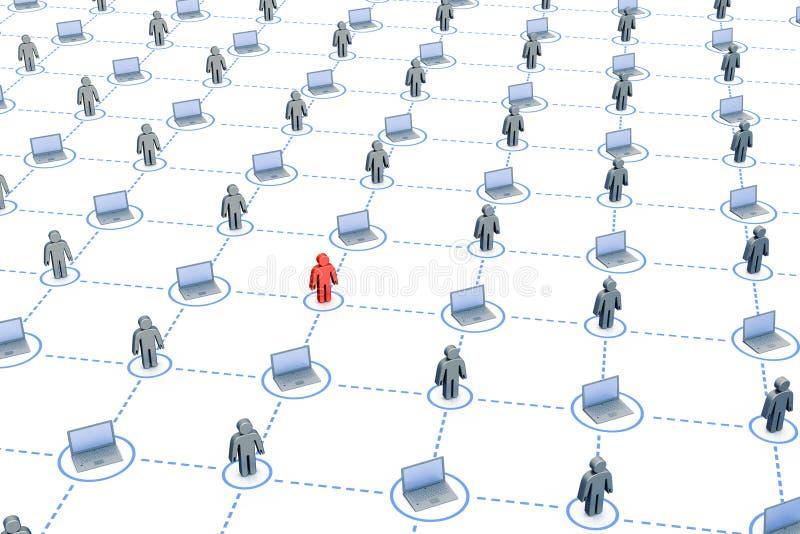 Groot netwerk royalty-vrije illustratie