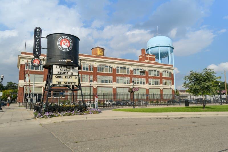 Groot Noordelijk Fietsenbedrijf in Fargo, Nd royalty-vrije stock foto