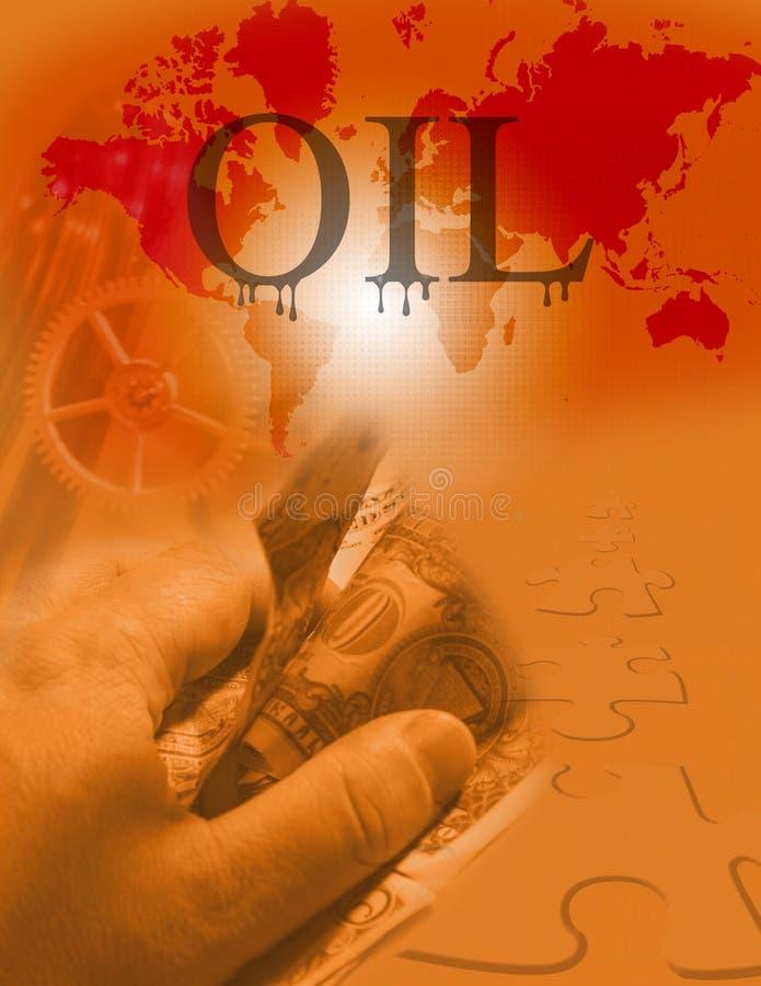 Groot olie bedrijfsraadsel royalty-vrije illustratie