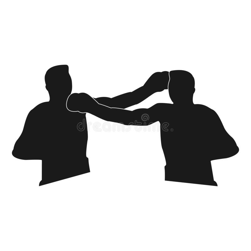 Groot ontwerp van twee bokserssilhouetten stock illustratie