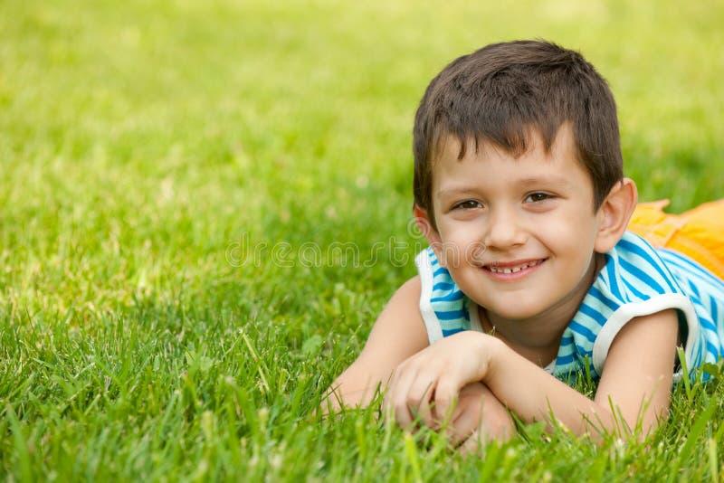 Groot op het gras in de zomer! royalty-vrije stock foto's