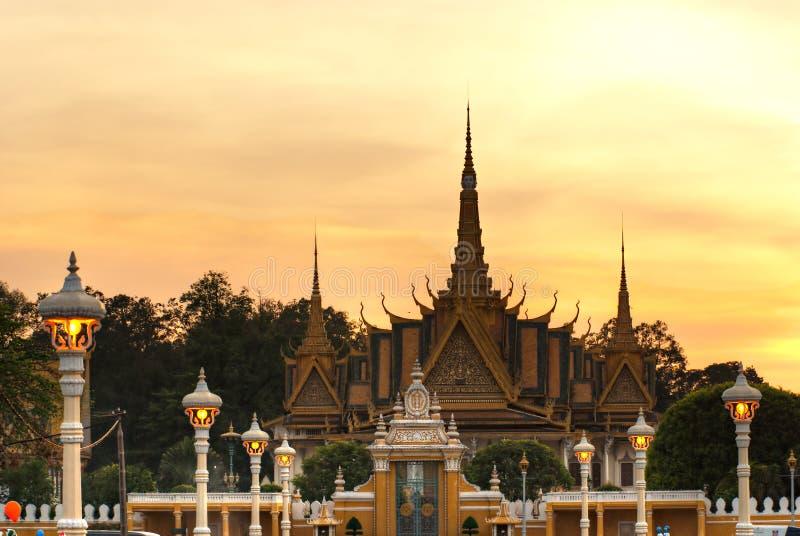 Groot paleis, Kambodja. royalty-vrije stock afbeelding