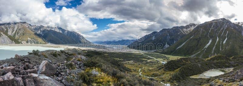 Groot panorama van de vallei royalty-vrije stock afbeeldingen