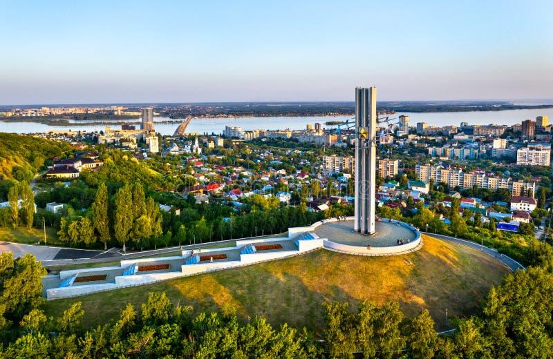 Groot Patriottisch Oorlogsgedenkteken in Saratov, Rusland royalty-vrije stock afbeelding