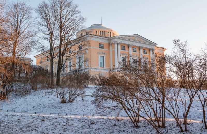 Groot Pavlovsk Paleis stock afbeelding