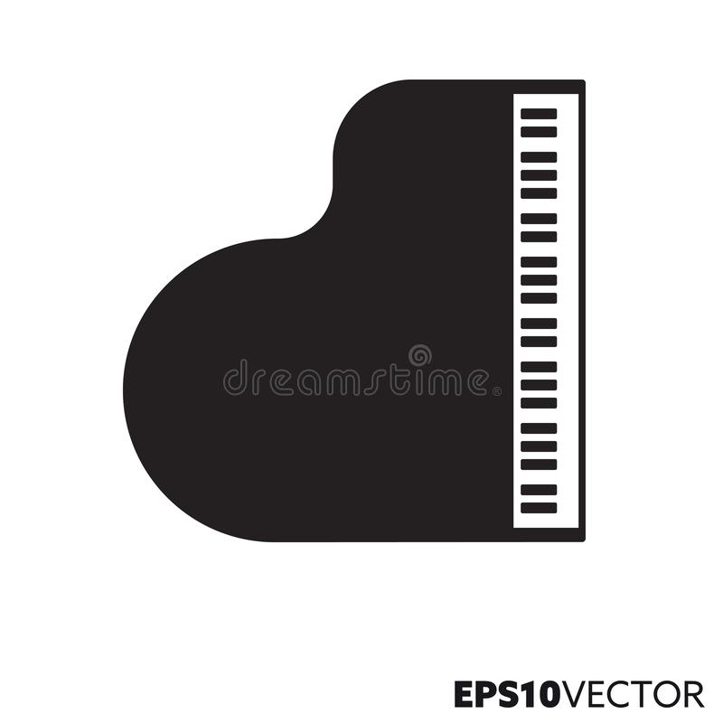 Groot piano vectorpictogram stock illustratie