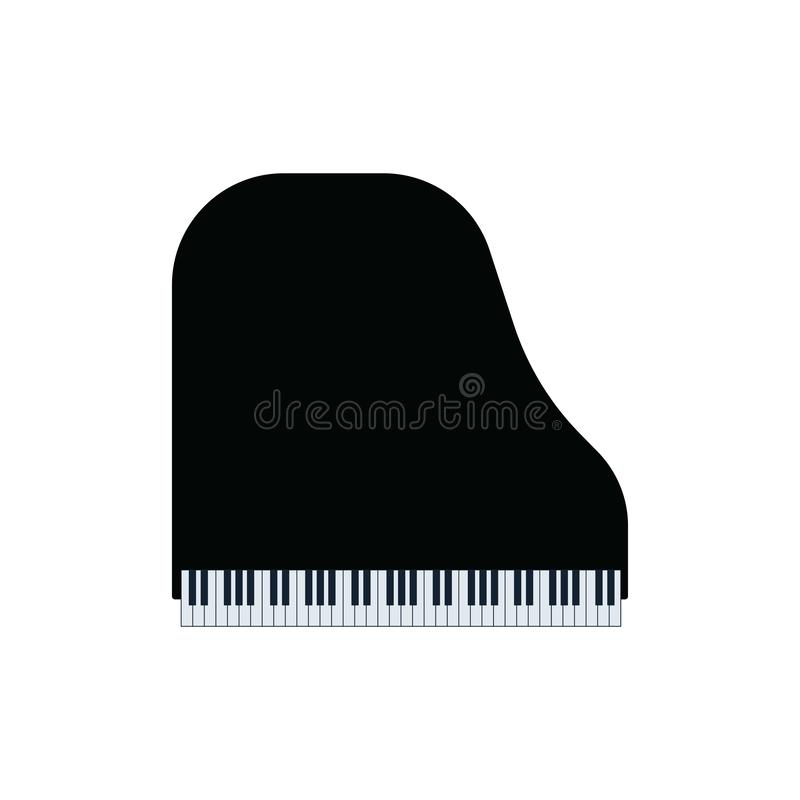 Groot pianopictogram vector illustratie