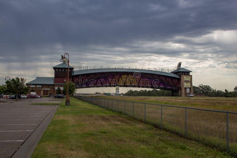 Groot Platte de Overwelfde galerijmonument van de Rivierweg stock afbeelding