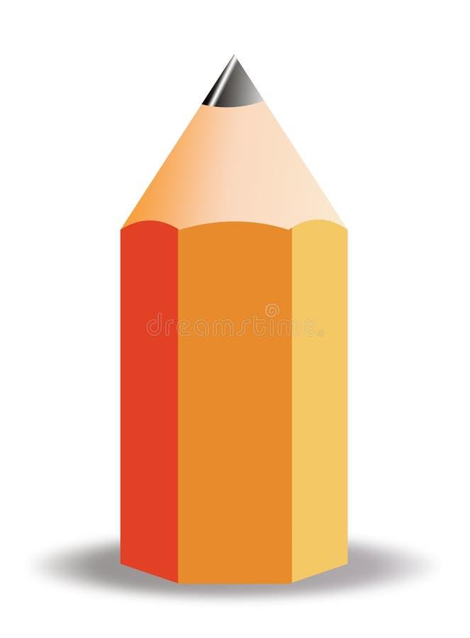 Groot Potlood vector illustratie