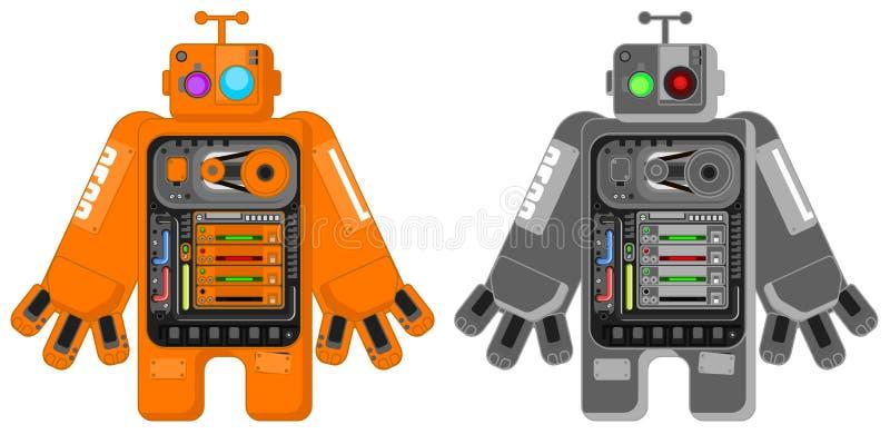 Groot Robotbeeldverhaal stock illustratie