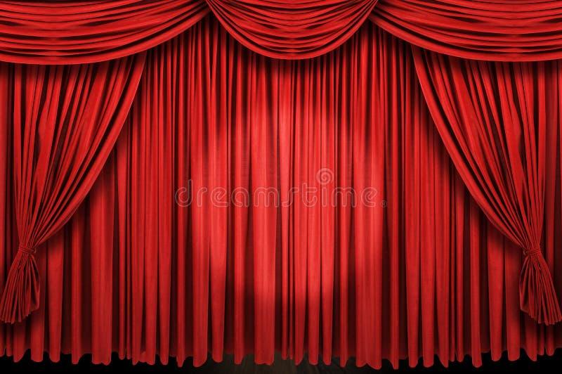 Groot rood de vleklicht van het gordijnstadium ANS royalty-vrije stock foto