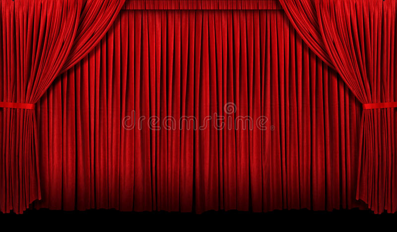 Groot Rood Gordijn stock afbeelding. Afbeelding bestaande uit drapes ...