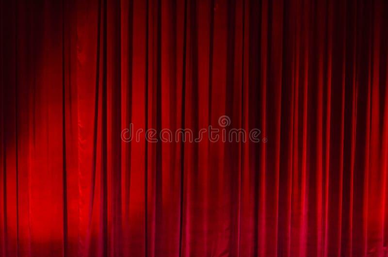 Groot Rood Gordijn Theater royalty-vrije stock foto