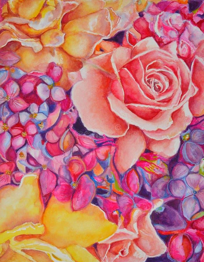 Groot roze vector illustratie