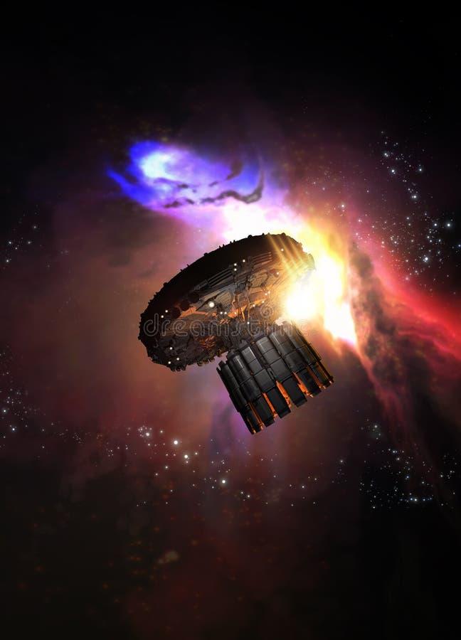 Groot ruimteschip royalty-vrije illustratie