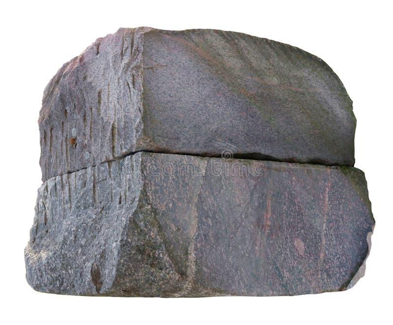 Groot ruw vierkant oud rood geïsoleerd de hamburgerconcept van granietstenen royalty-vrije stock foto