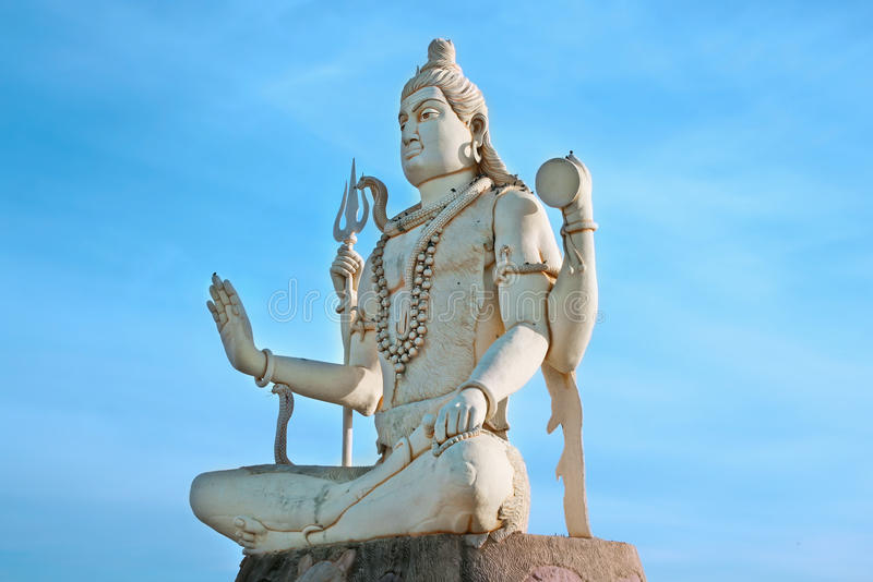 Groot standbeeld van de God Shiva van India royalty-vrije stock foto