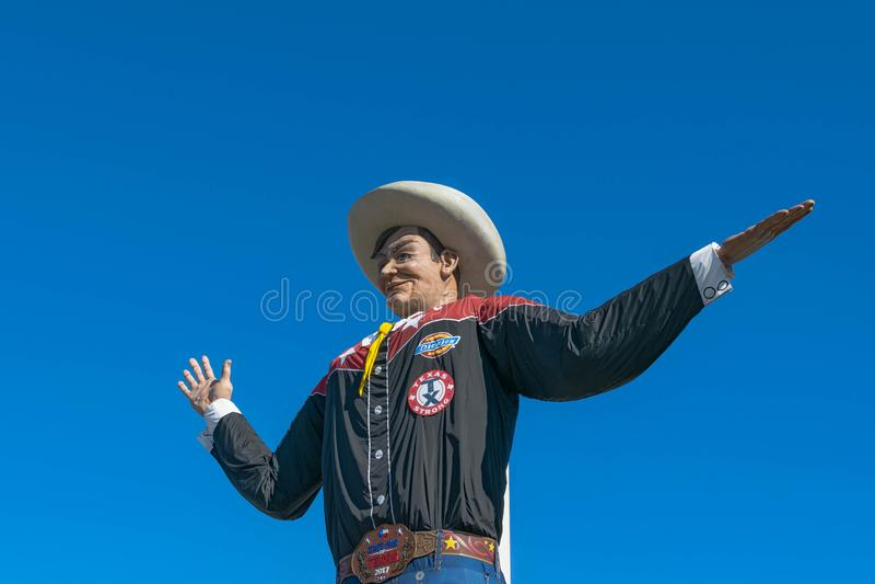 Groot Tex bij de Markt van de Staat van Texas stock afbeeldingen