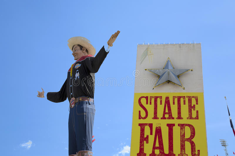 Groot Tex At State Fair Of Texas stock foto