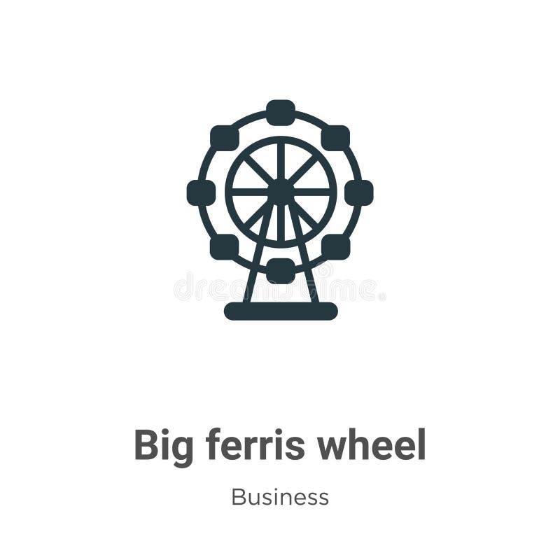 Groot vectorikoon voor ferris op witte achtergrond Flat vector big ferris-ikoon symbool van moderne bedrijfsverzameling stock illustratie