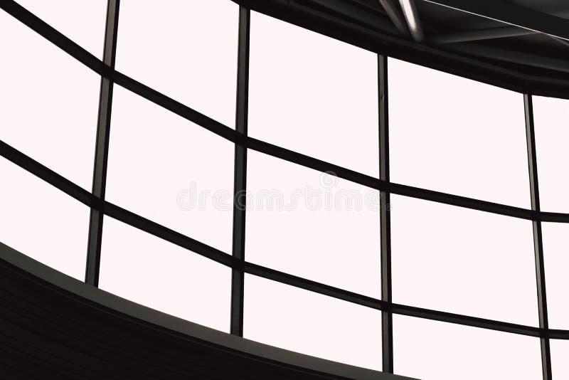 Groot vensterspaneel of het veelvoudige kader van het vertoningsscherm royalty-vrije illustratie