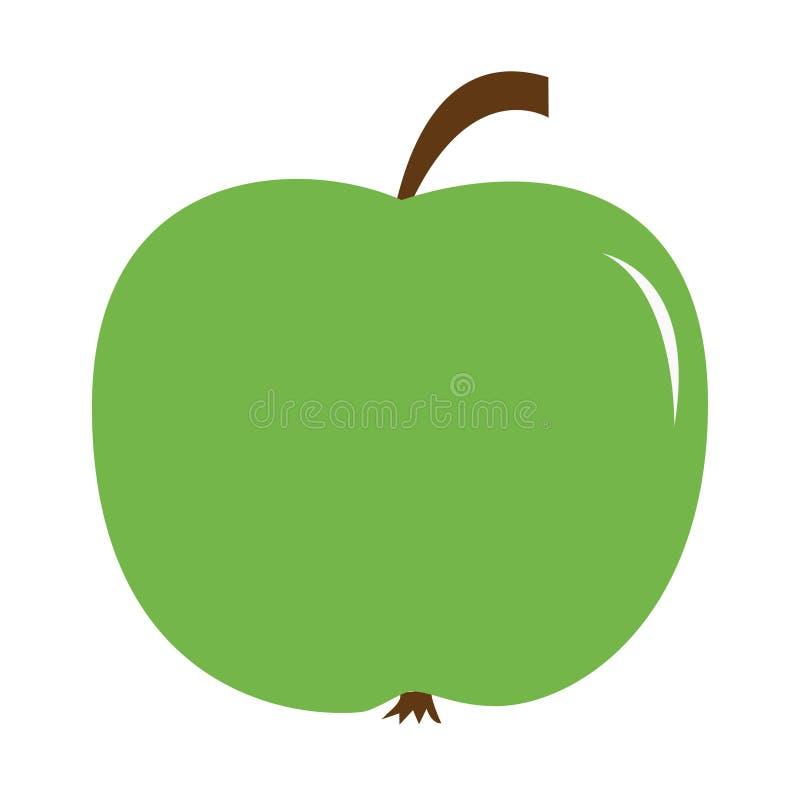 Groot vers groen appelpictogram Gezonde voedsellevensstijl Met het knippen van weg Onderwijskaart voor jonge geitjes Vlak Ontwerp vector illustratie