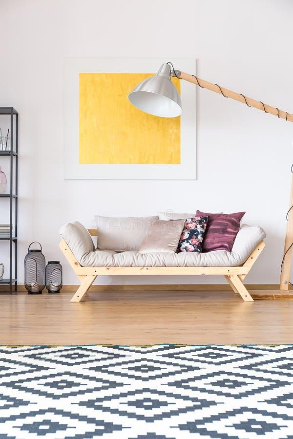 Groot vierkant gevormd tapijt stock foto
