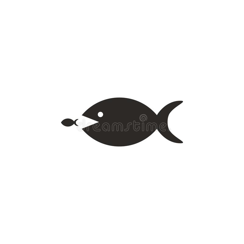 Groot, vissen, klein, bedrijfs vectorpictogram Eenvoudige elementenillustratie van UI-concept Groot, vissen, klein, bedrijfs vect stock illustratie